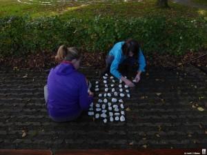 Labyrinth stenen uitleggen