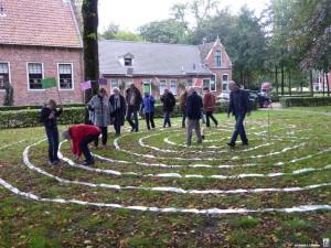 Labyrinth lopen en cirkelen