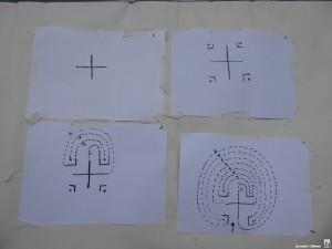 Tekeningen van Labyrinthen